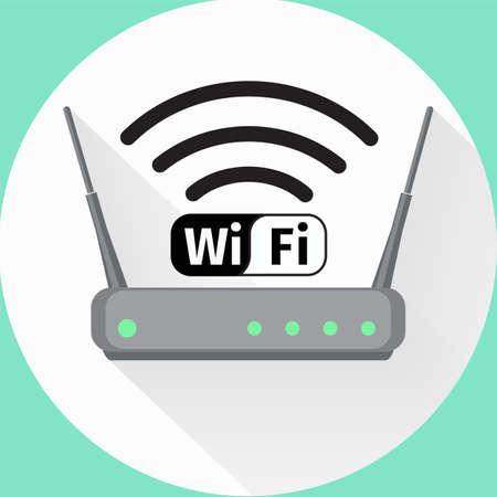 Wireless-Router Web-Symbol Vektorgrafik