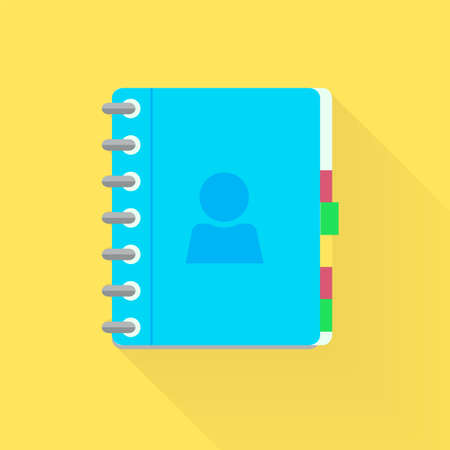 adress book: Address phone book, notebook icon. Flat style design.