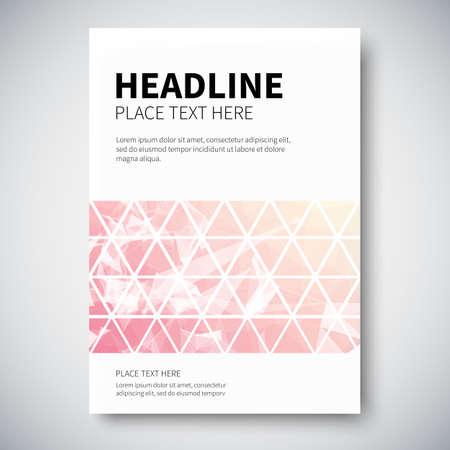 Cover design met abstracte kleurrijke driehoekige gevoerd meetkunde, vector illustratie Vector Illustratie