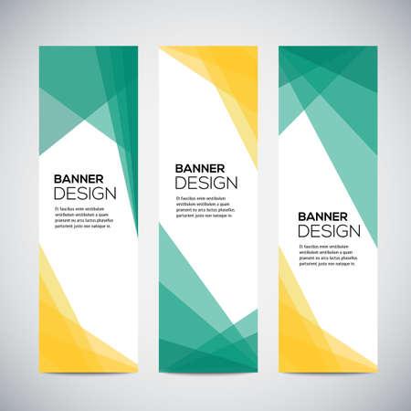 Bannières avec motif géométrique coloré abstrait et arrière-plan. Illustration vectorielle