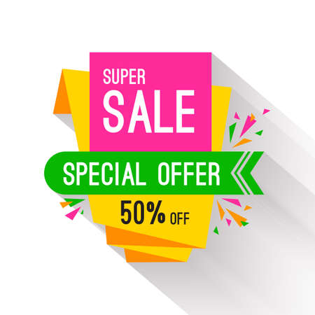 sale tag: Special offer sale tag discount isolated on white background modern style vector illustration