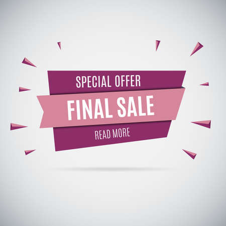 sale tag: Special offer sale tag discount isolated on graybackground modern style vector illustration Illustration