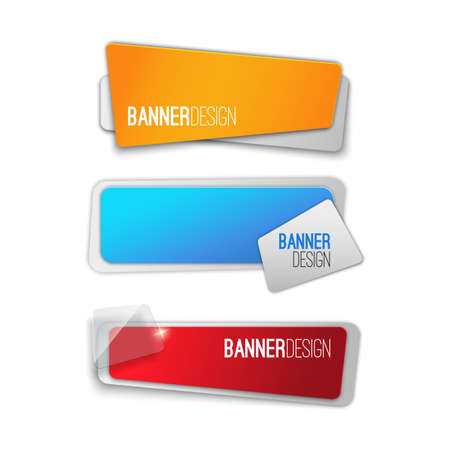 BANNER DESIGN: Creative realistic abstract banner design