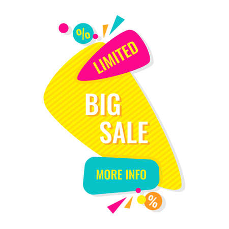 Advertising banner. Big limited sale.
