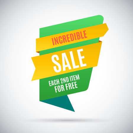 incredible: Incredible sale. Each second item for free Illustration