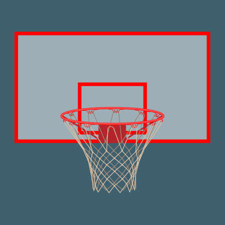 Basketball hoop on backboard isolated on white background Vektorové ilustrace