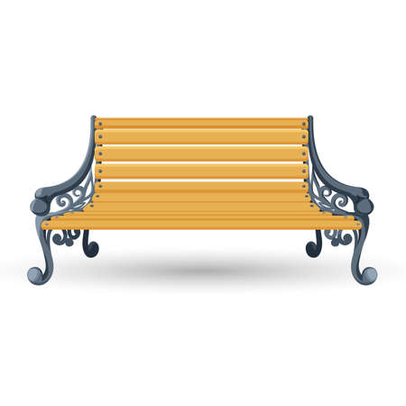 trabajo manual: Wooden bench isolated on white background. Place for rest