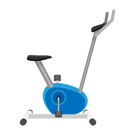 Exercise bike vector isolated on white. Sport equipment