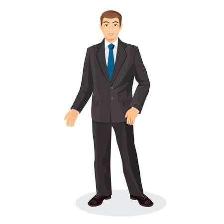 mid adult men: Handsome gentleman in elegant suit with blue tie