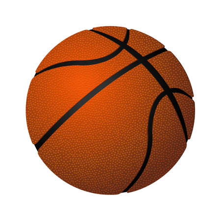 ball point: Basketball spherical inflated leather ball realistic vector illustration