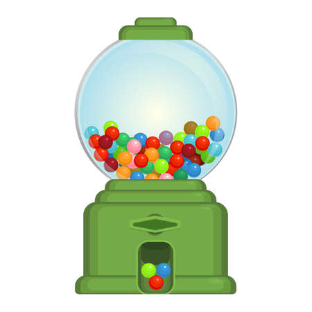 Gumball machine toy or commercial device, which dispenses round gumballs