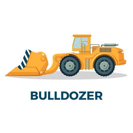 Bulldozer crawler tracked tractor equipped with substantial metal plate
