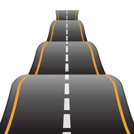 Bumpy road icon uneven dangerous wave path with marking vector Illustration