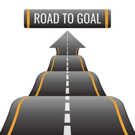 Road to goal abstract way to success, achievement new opportunities Ilustrace