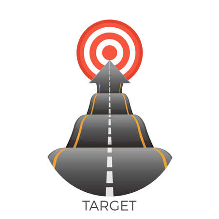 Target at end of bumpy road going to goal vector