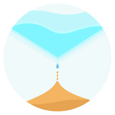 Circle icon with drop of water on vector illustration