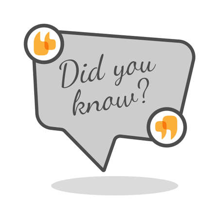 Did you know question inside rectangular speech bubble Vectores