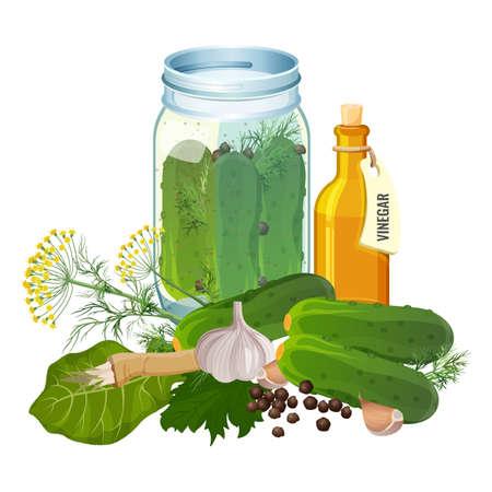 Jar different vegetables icon. Illustration