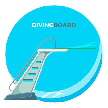 Diving board icon. Stok Fotoğraf - 91540339