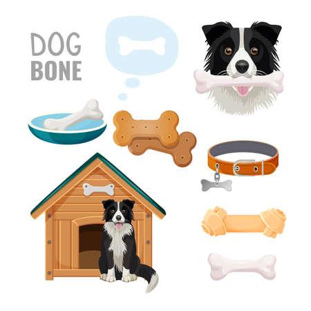 Dog bone promotional poster of zoo market goods
