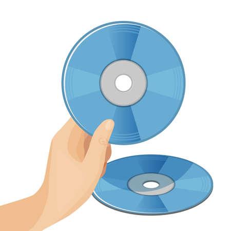 Digital video discs vector illustration