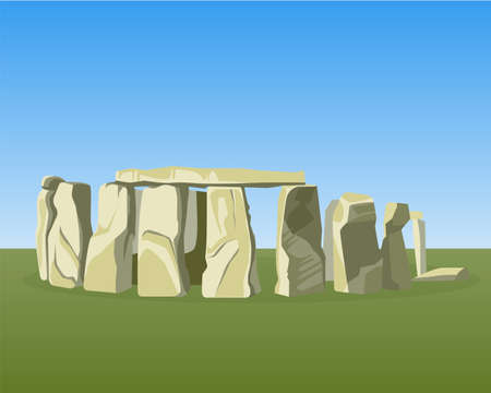 Stonehenge famous prehistoric monument consists of ring standing stones 写真素材 - 97712893