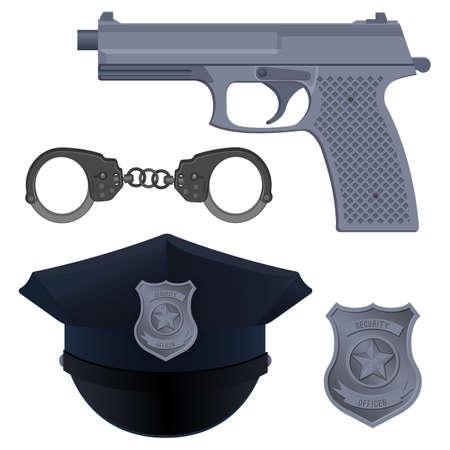 Enforcement agencies conceptual vector illustration
