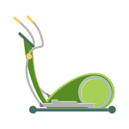 Modern exercise bike in green corpus to stay fit