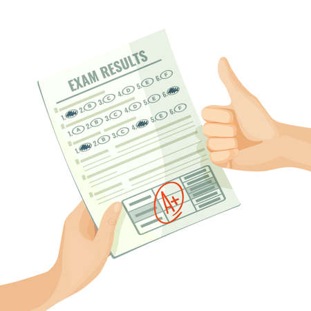 Excellent exam results on paper in human hands