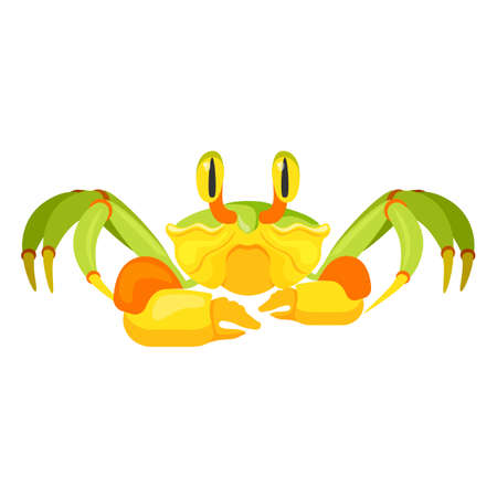 Fiddler crab with five pair of legs vector illustration