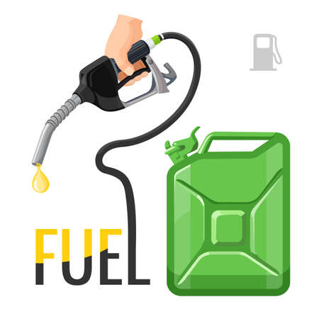 Refueling concept emblem, template for gasoline prices