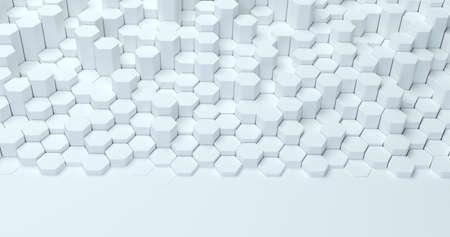 Abstracte technologische zeshoekige