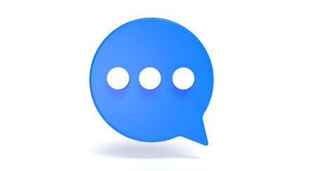 Bubble chat social media 3d icon. Speak and communication message concept. 3D illustration.
