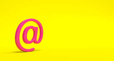 Electronic mail sign on background. Email address letter and web concept. 3D render