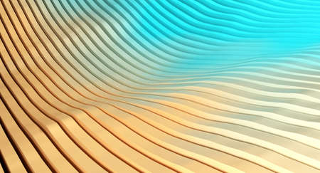 3d abstract background with cut lines. 3D rendering