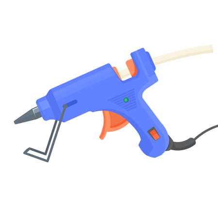 Glue gun. Hot pistol equipment for craft and art. Vector