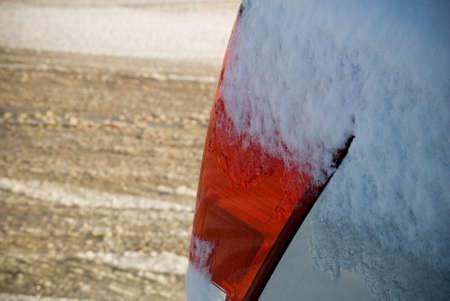 icey: Frozen Tail light Stock Photo