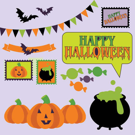 Halloween Vector Elements Çizim