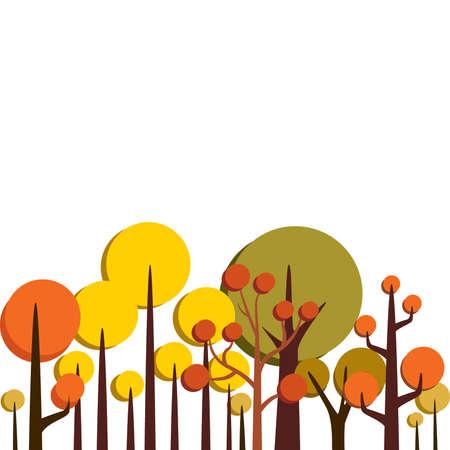 retro: Retro Trees Illustration