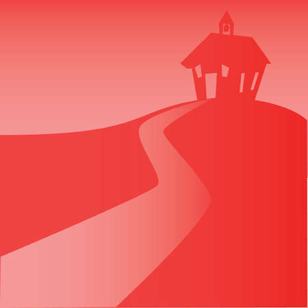 School House back ground Red