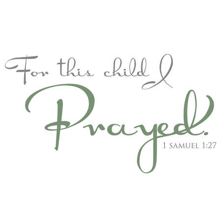 samuel: For this child I prayed typeography