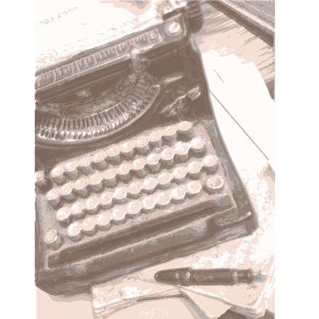 Vintage  Typewriter Ilustração
