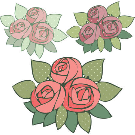 mauve: Polka Dotted Roses