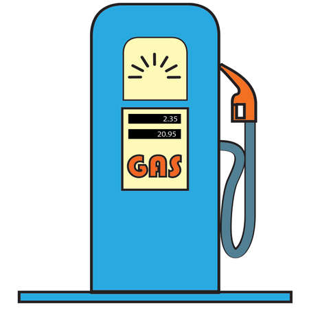 gas pump: Cartoon Vector Gas Pump Illustration