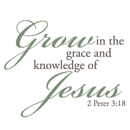 2 Peter 3:18 Inspirational Scripture Typography 向量圖像