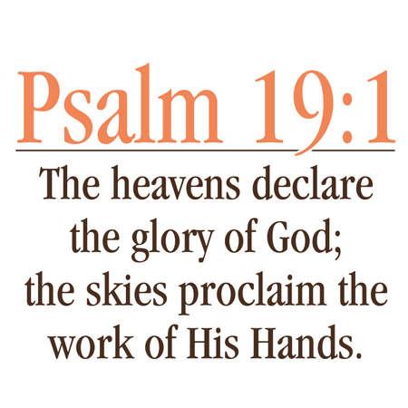 salmo: Salmo 19: 1 Inspirational Scrittura Tipografia Vettoriali