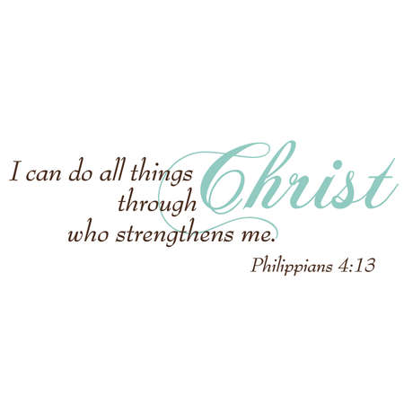 Philippians 4:13 Inspirational Scripture Typography