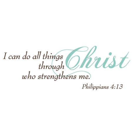 scripture: Philippians 4:13 Inspirational Scripture Typography