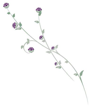 Purple  Green Jewel-tone Rose Illusztráció