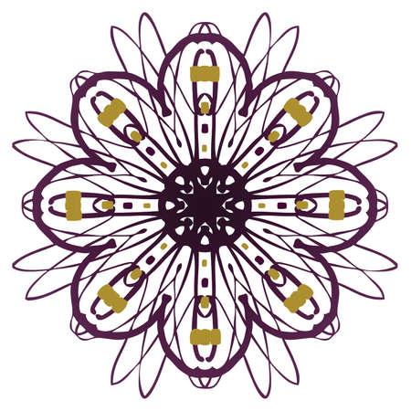 shaped: Flower shaped Mandala Illustration